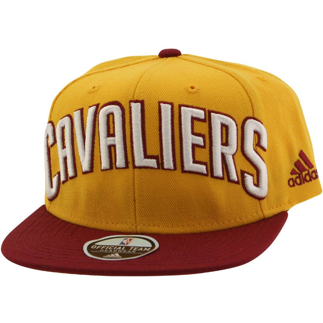 Adidas NBA Cleveland Cavaliers On Court Snapback Cap (gold / maroon)