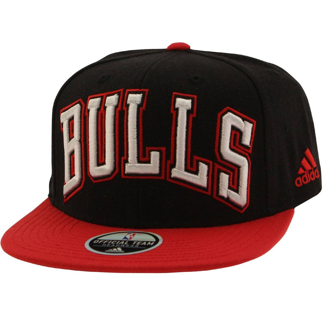 Adidas NBA Chicago Bulls On Court Snapback Cap black red c83641475cc