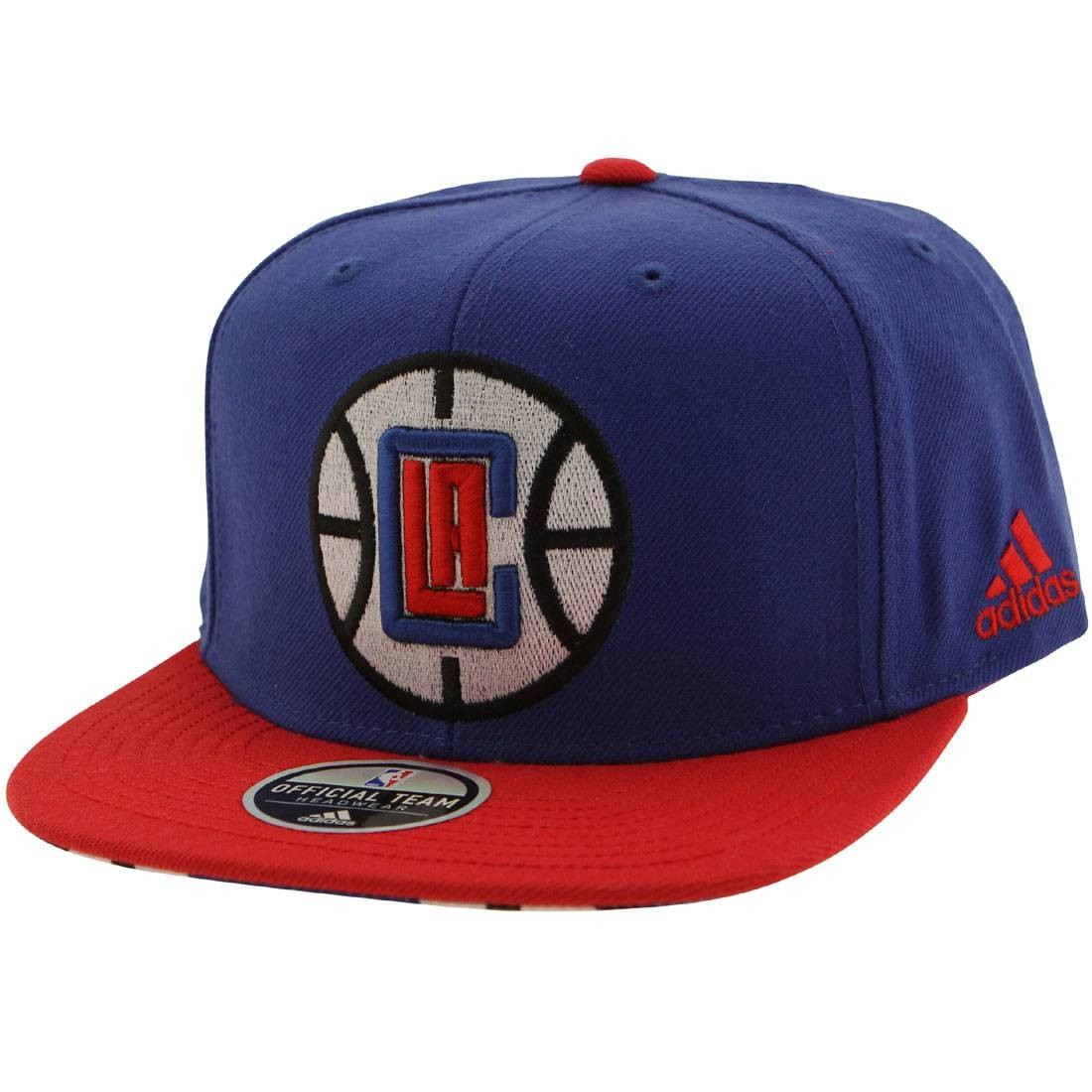 9530d9993f58b Adidas NBA Los Angeles Clippers On Court Snapback Cap blue red
