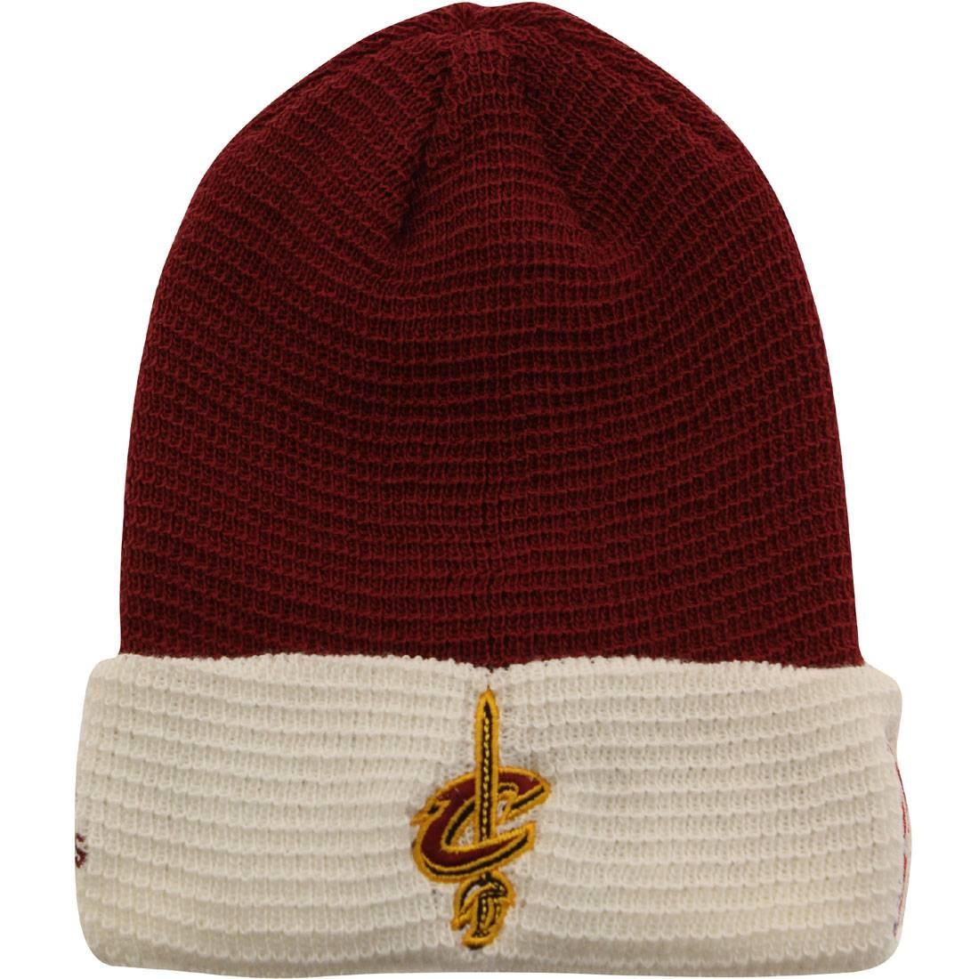 Adidas NBA Cleveland Cavaliers Team Cuffed Knit Beanie (burgundy / white)