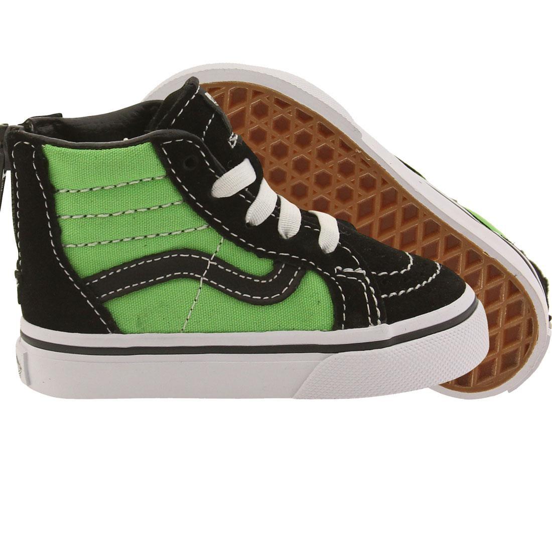 Vans Toddlers Sk8-Hi Zip (black / green)