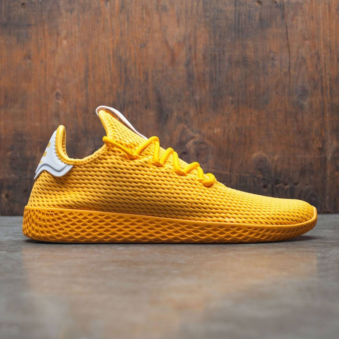 e8077592f Adidas x Pharrell Williams Men Tennis Hu yellow collegiate gold footwear  white