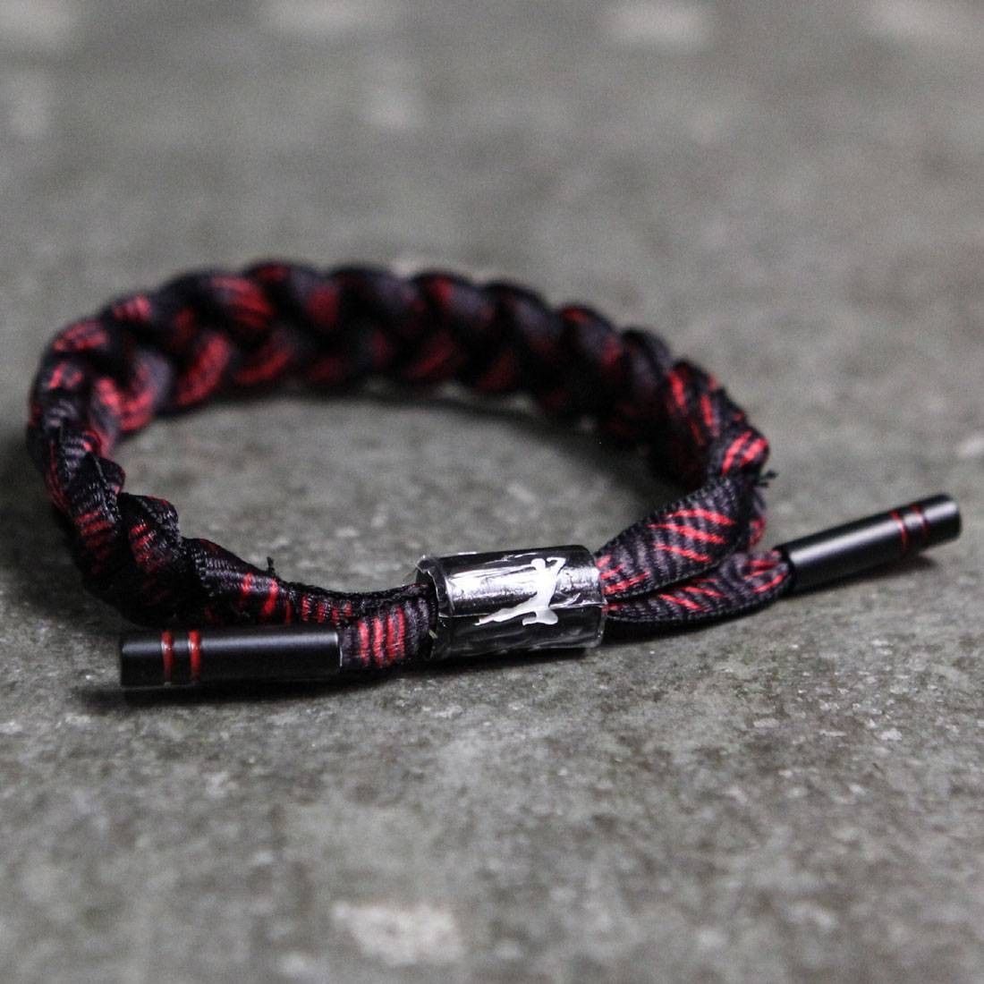 BAIT x Bruce Lee x Rastaclat Shoelace Bracelet - Dragon (black / red)