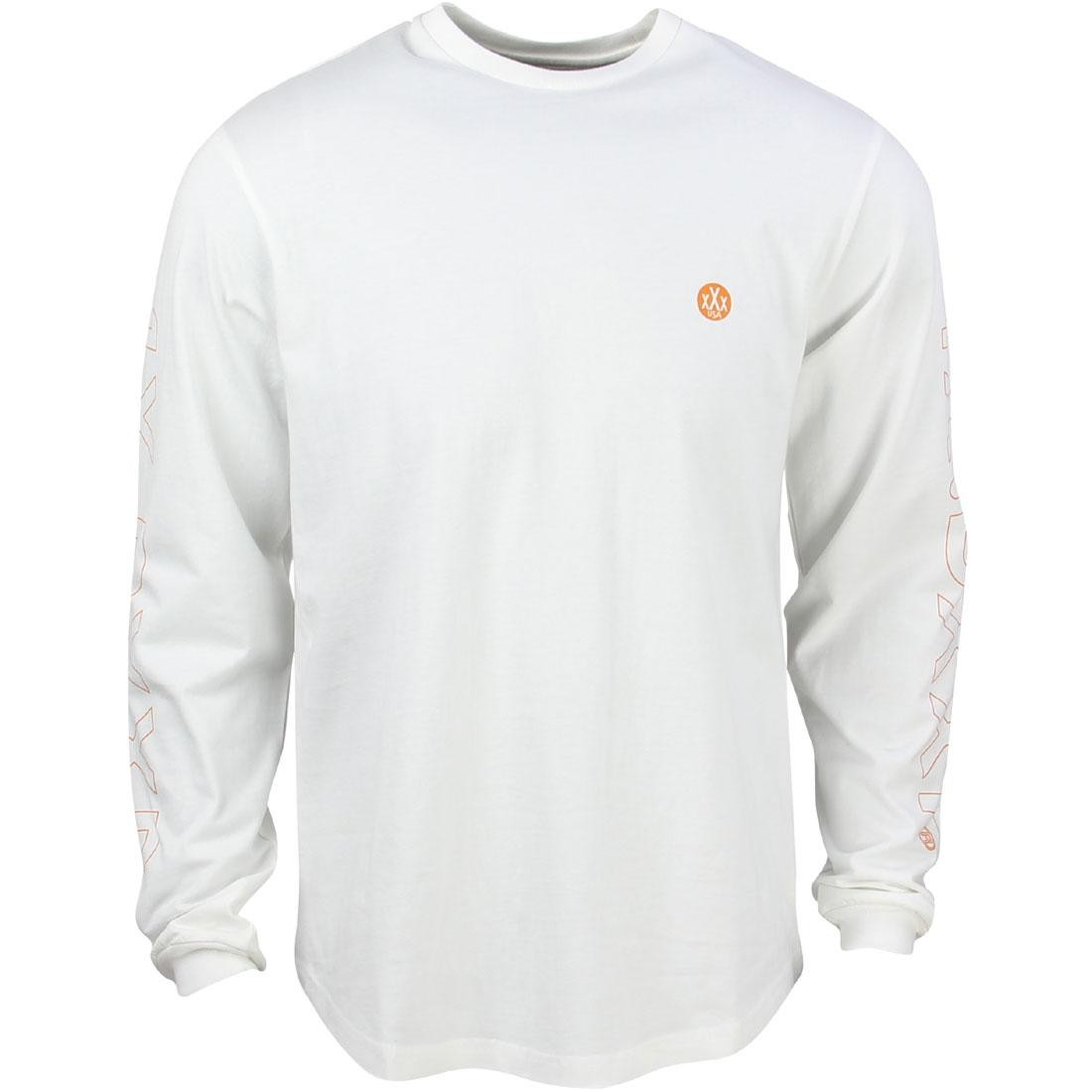 10 Deep Men Dotted Scoop Long Sleeve Tee (white / off white)