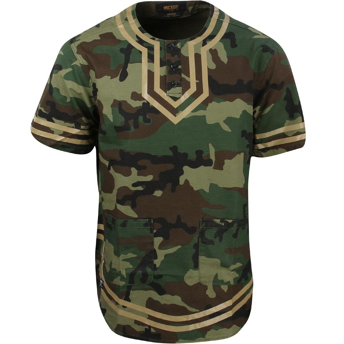 10 Deep Men Dashiki Shirt (camo / woodland)
