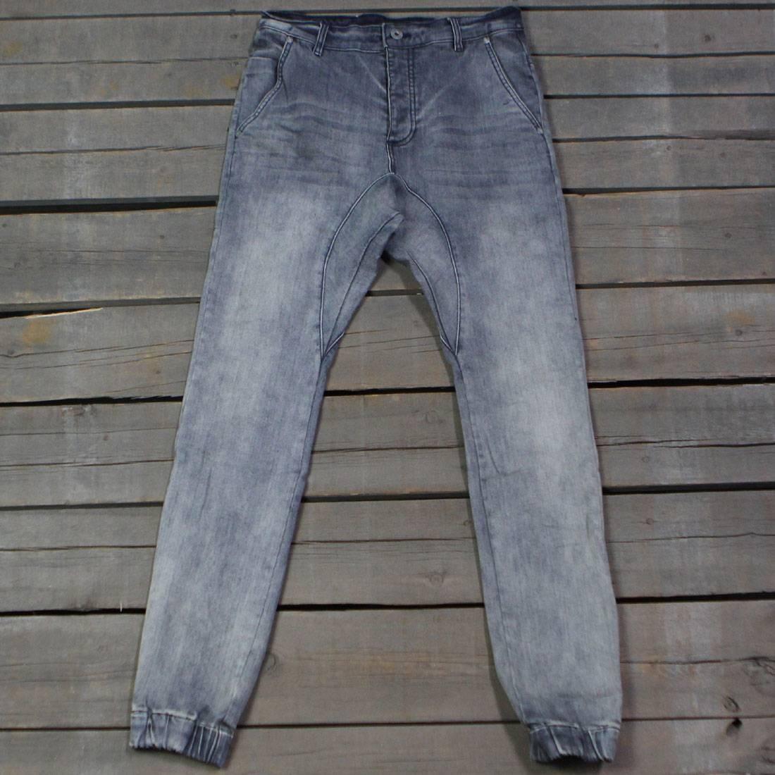 Zanerobe Men Slingshot Denim Pants (blue / gray)
