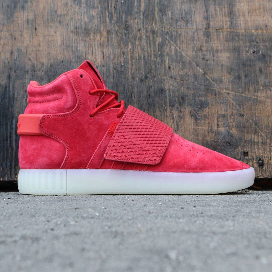 finest selection 6916d 569df Adidas Men Tubular Invader Strap (red / vintage white)