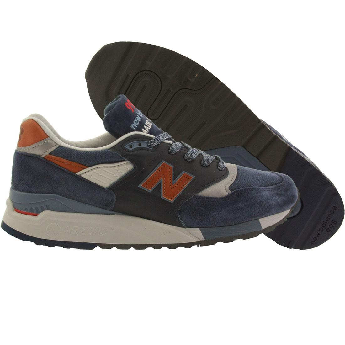 ef2d7e52e3919 New Balance Men 998 Distinct Retro Ski M998DSNG Made in USA navy blue aster  carmel
