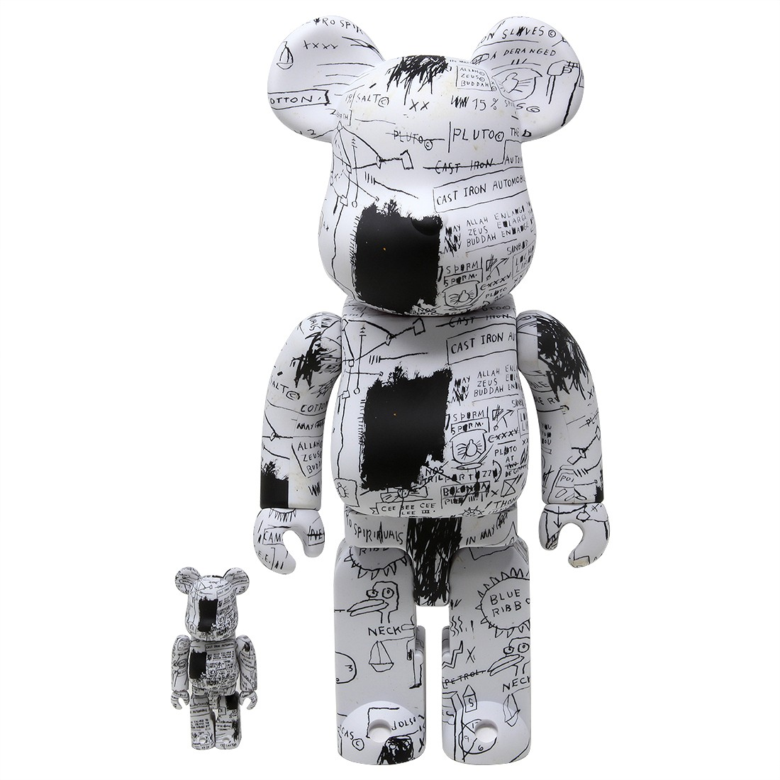 Medicom Jean-Michel Basquiat #3 100% 400% Bearbrick Figure Set (white)