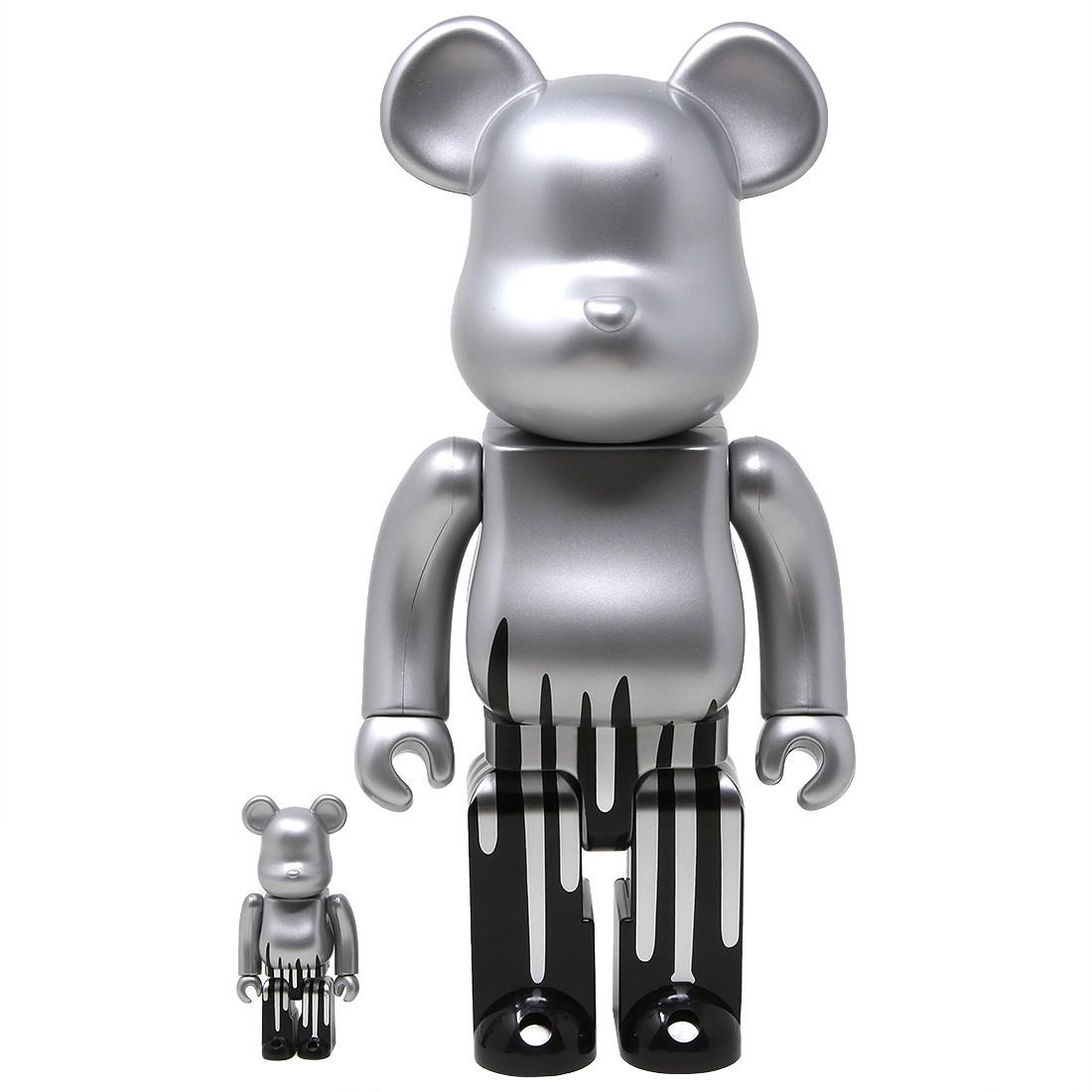 Medicom Krink 100% 400% Bearbrick Figure Set (silver)