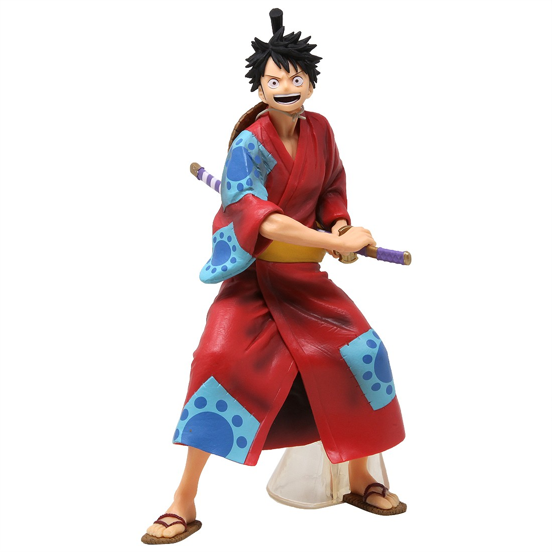 Banpresto One Piece Monkey D Luffy Japanese Style Figure Red