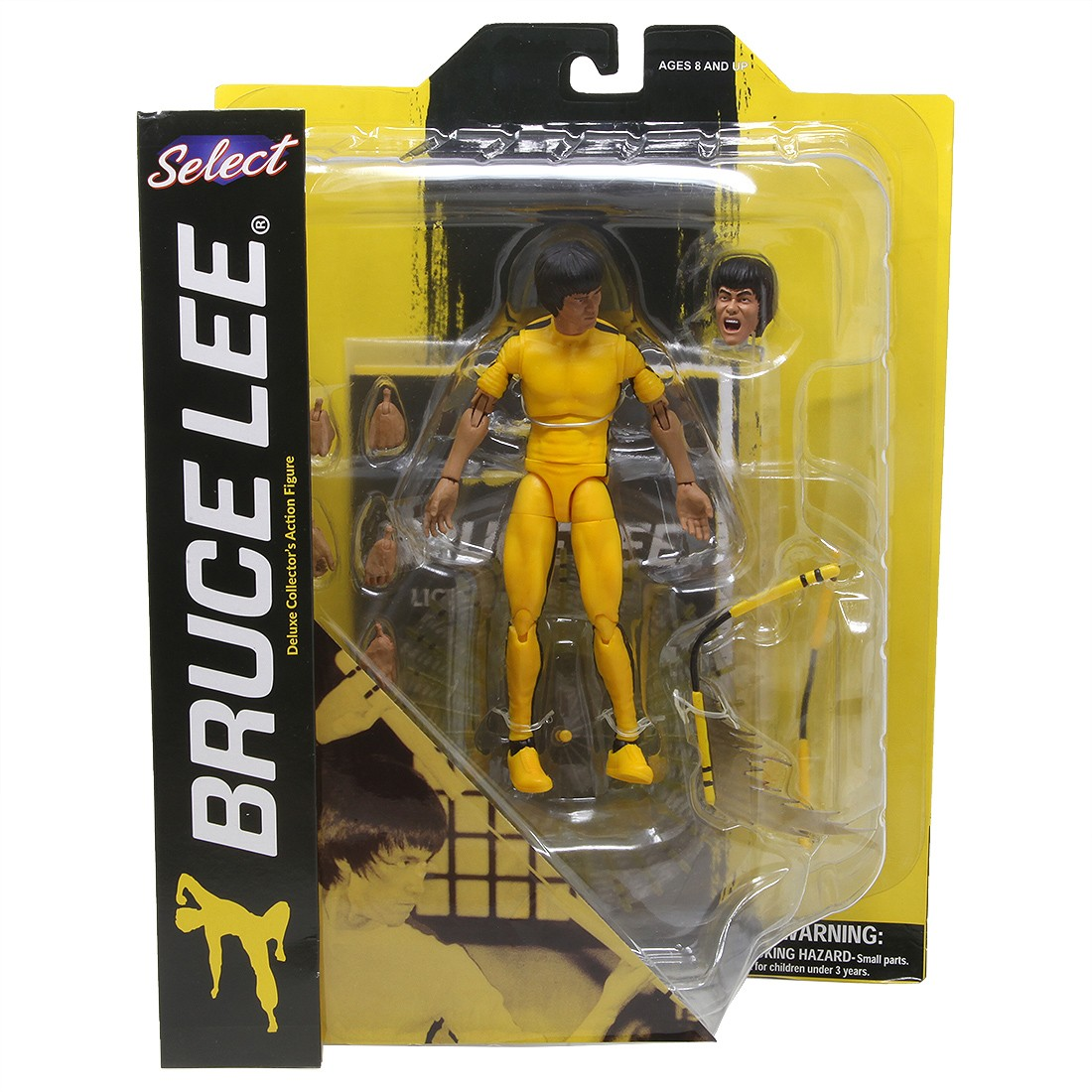 Diamond Select Toys Bruce Lee Select Yellow Jumpsuit Figure (yellow)