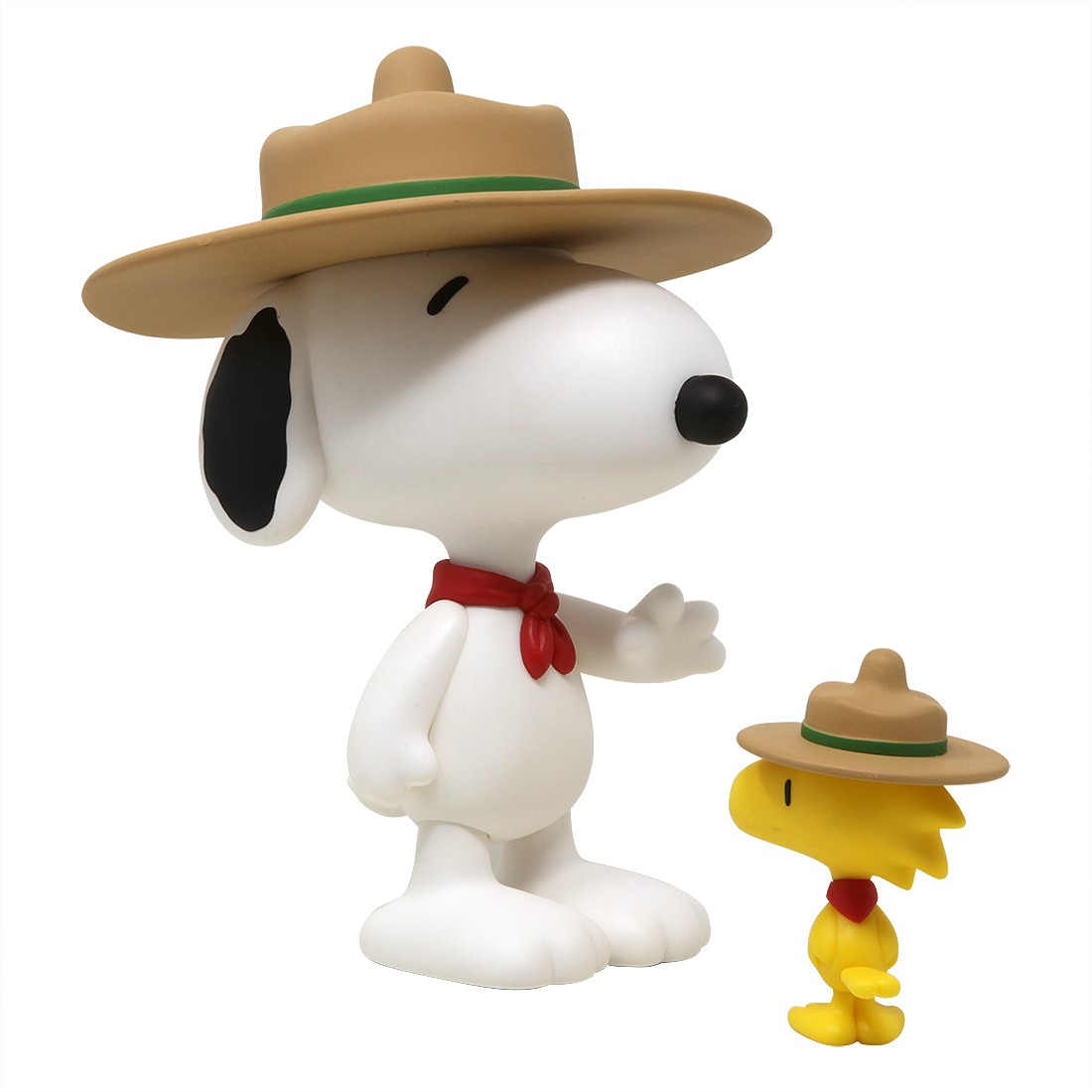 Medicom Peanuts VCD Beagle Scout Snoopy and Woodstock (white / yellow)