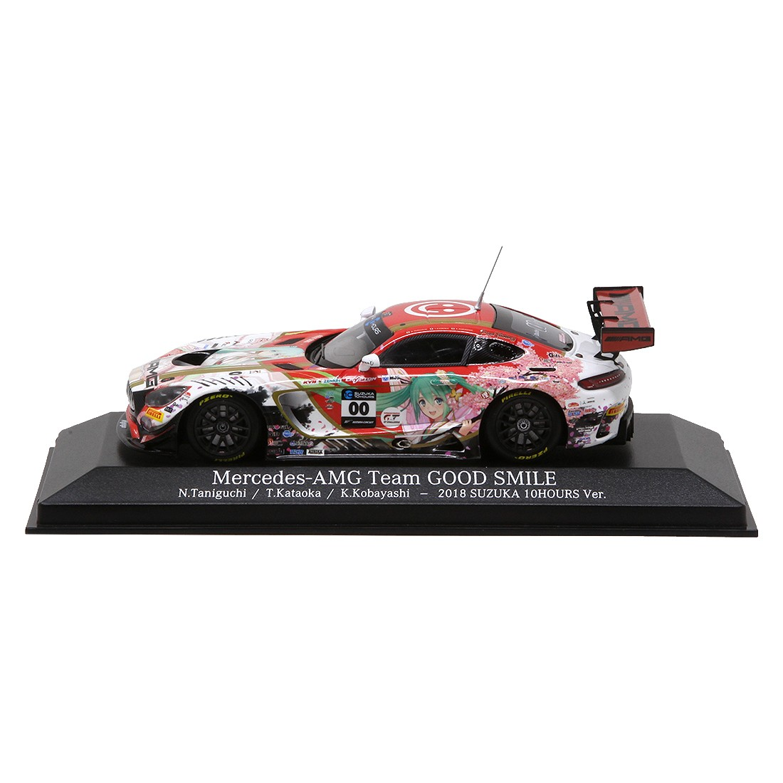 Good Smile Racing Hatsune Miku GT Project Mercedes-AMG 2018 Suzuka 10H Ver. 1/43 Scale (red)
