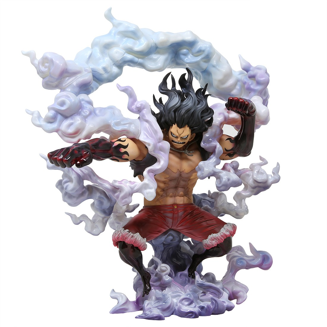 Megahouse One Piece Portrait Of Pirates Sa Maximum Monkey D Luffy Gear 4th Snakeman Figure Red