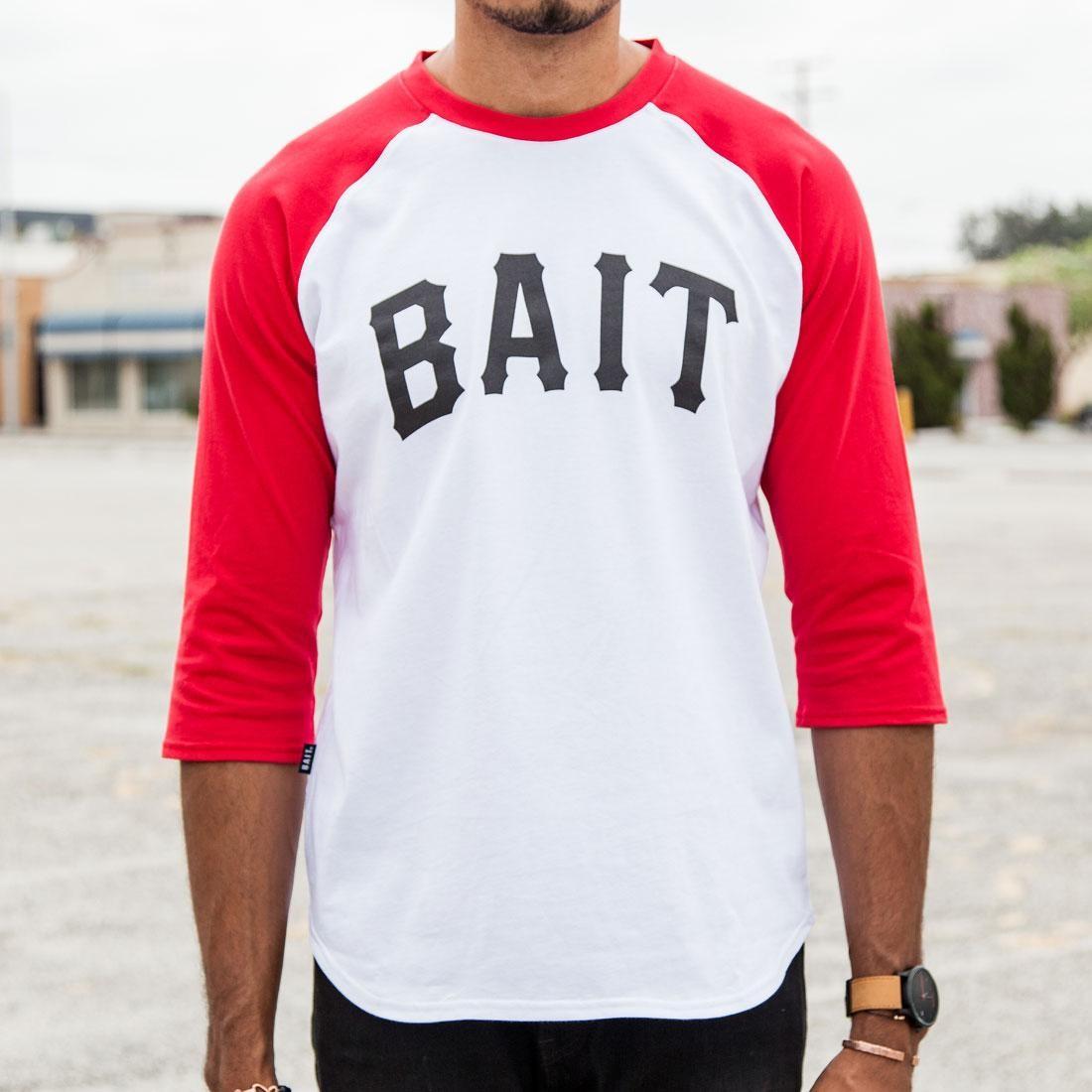 BAIT Men Core Raglan Tee (white / red)