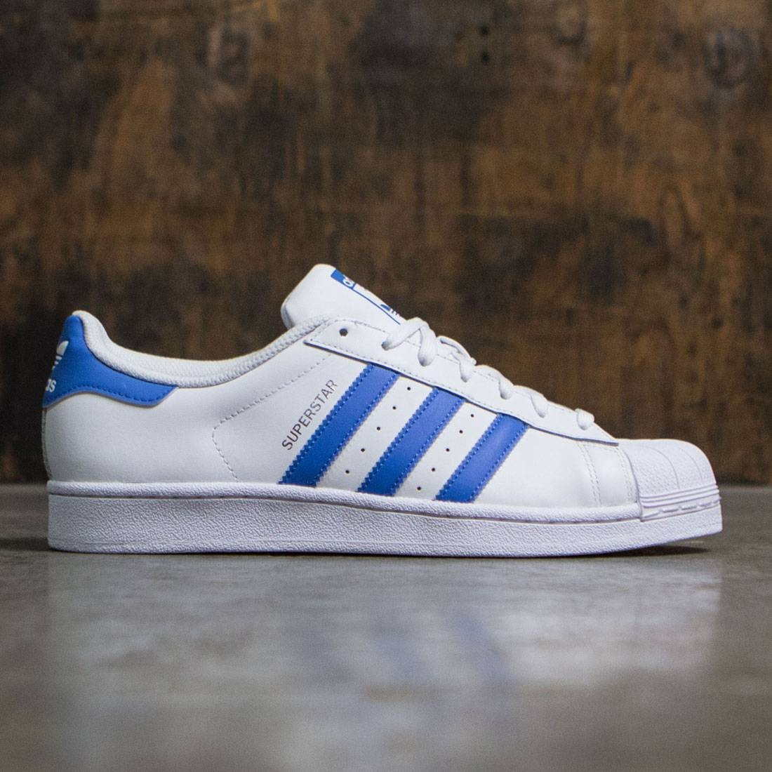 Adidas Men Superstar (white / ray blue)