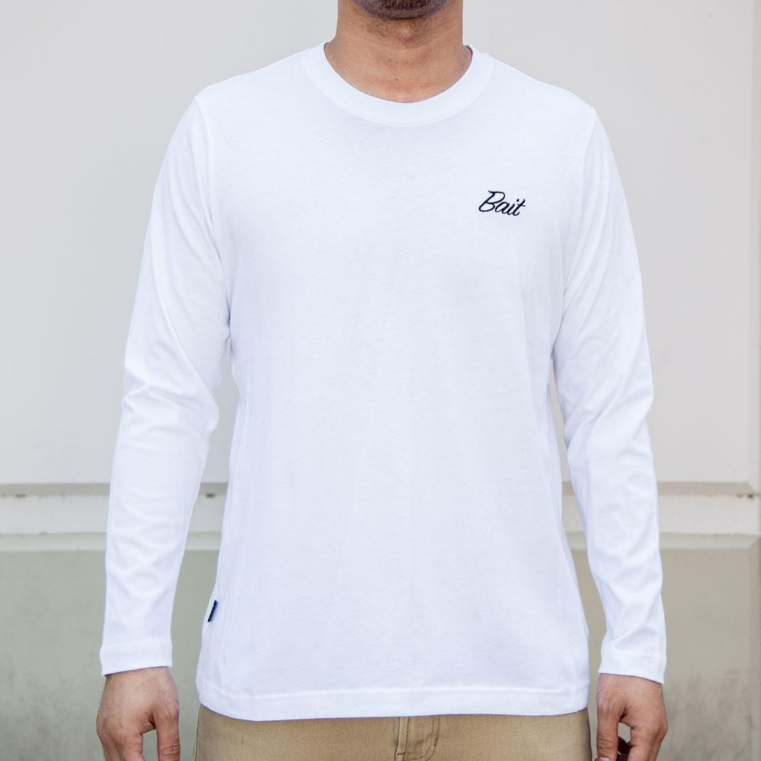 BAIT Men Core Long Sleeve Tee (white)