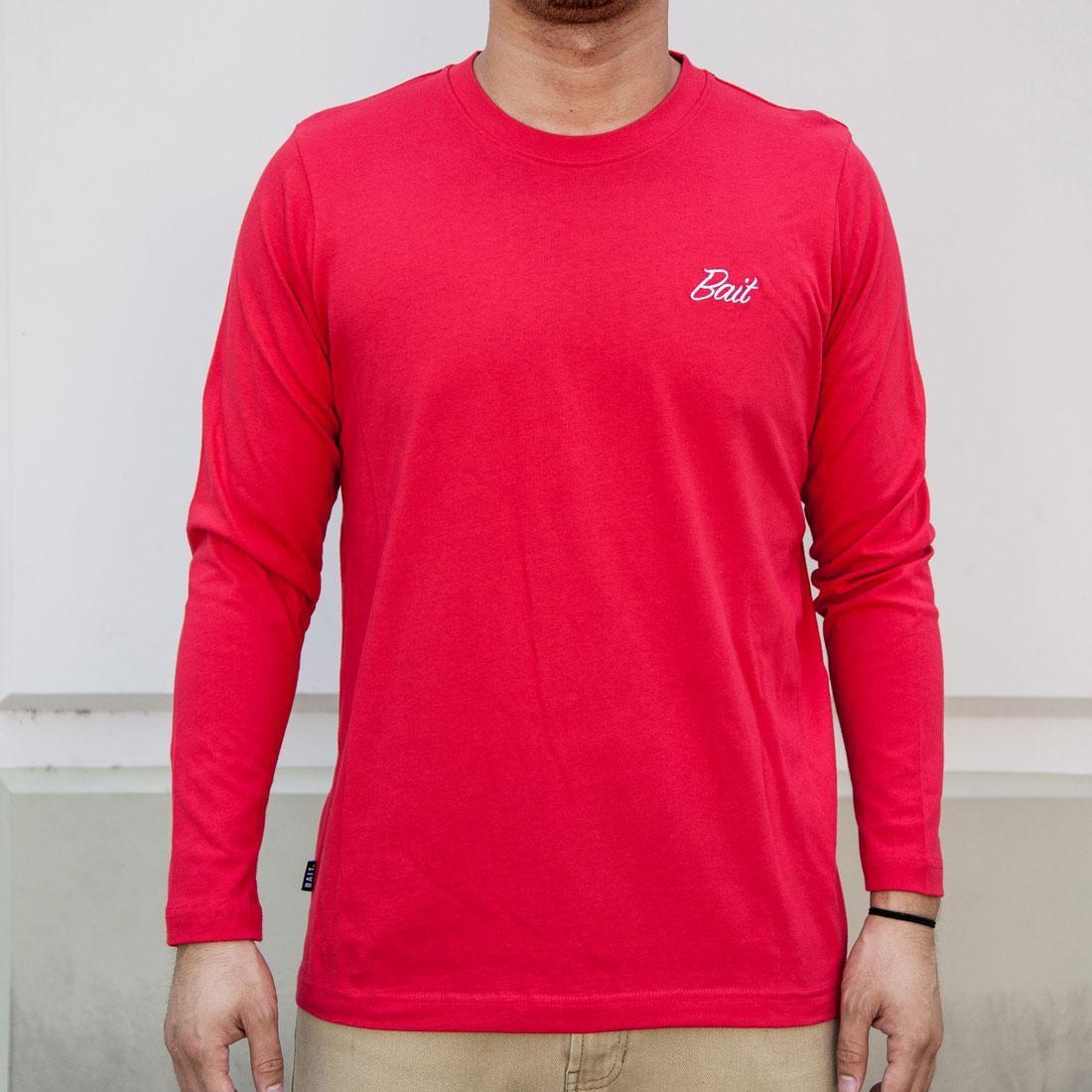 BAIT Men Core Long Sleeve Tee (red)