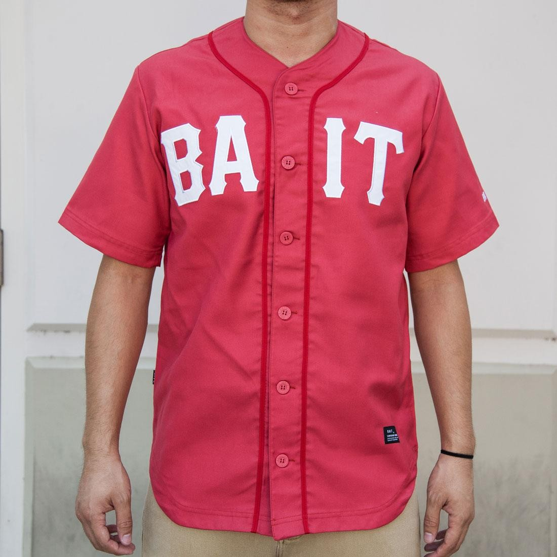 BAIT Men Sluggers Baseball Jersey (red / white)
