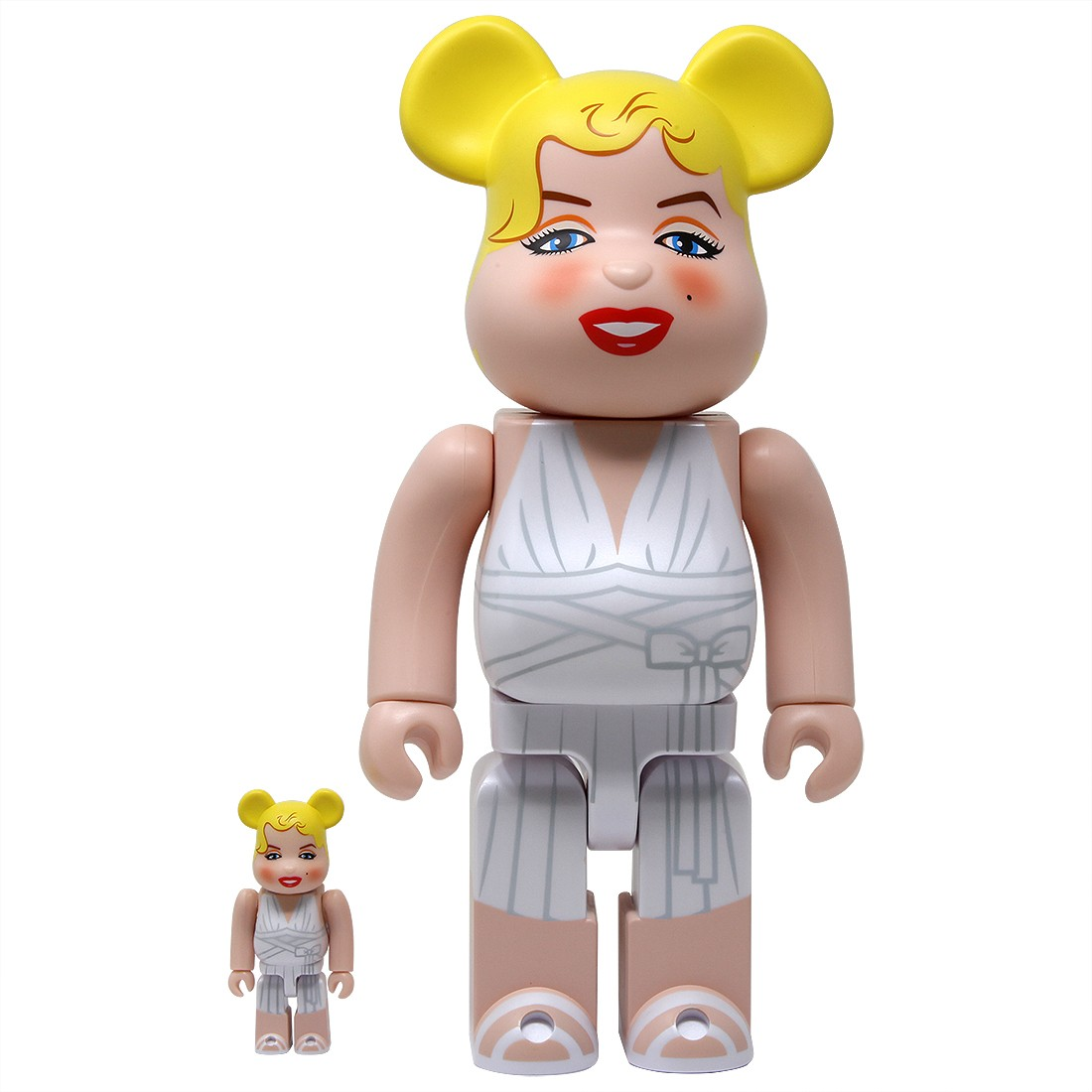 Medicom Marilyn Monroe 100% 400% Bearbrick Figure Set (white)
