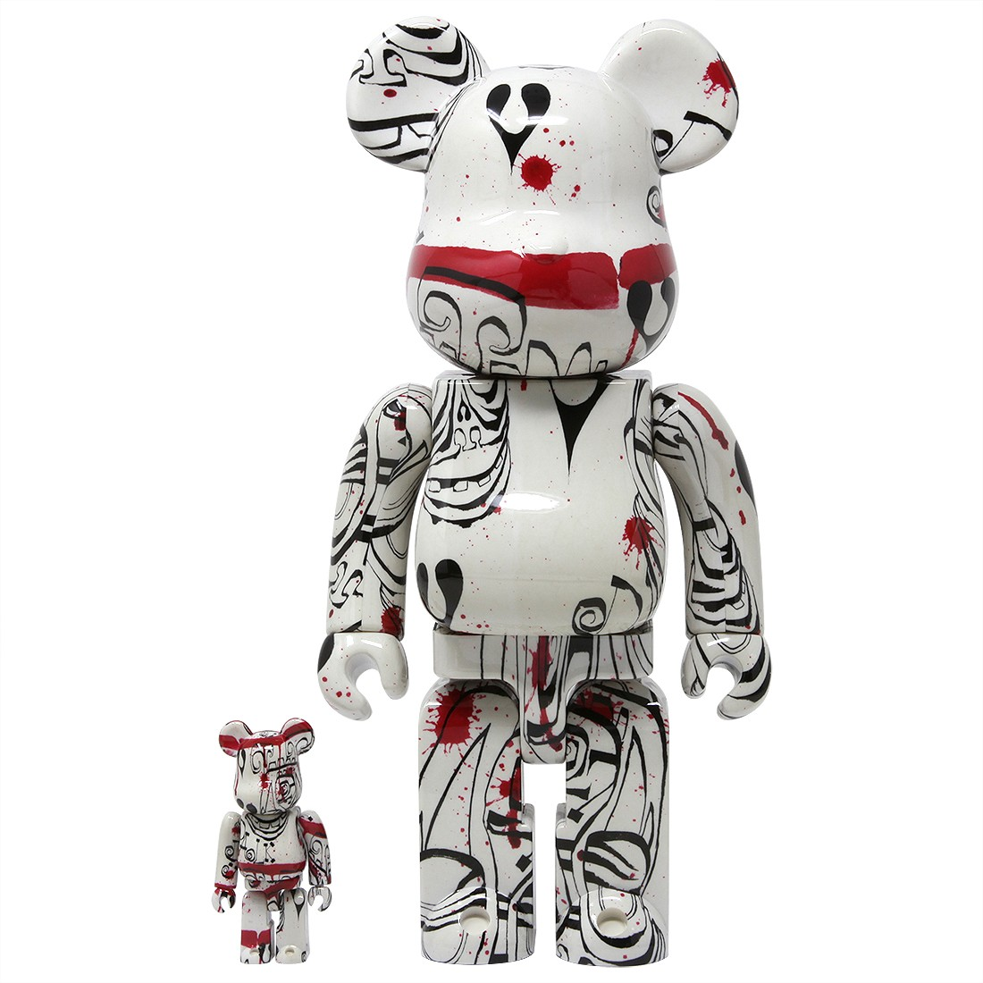 Medicom Phil Frost 2019 Version 100% 400% Bearbrick Figure Set (white)