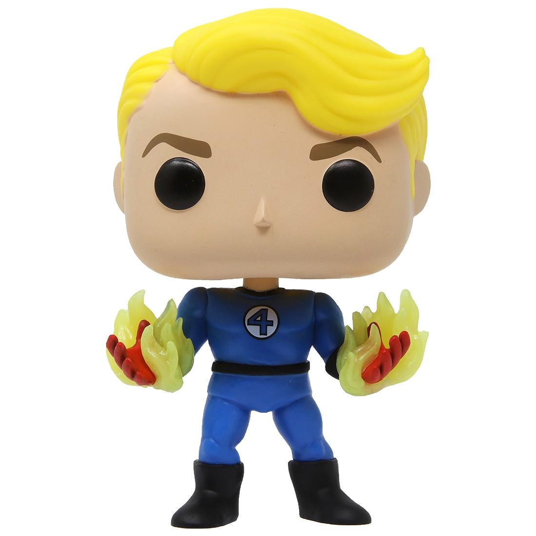 Funko POP Marvel Fantastic Four Human Torch Suited GID (blue / glow in dark)