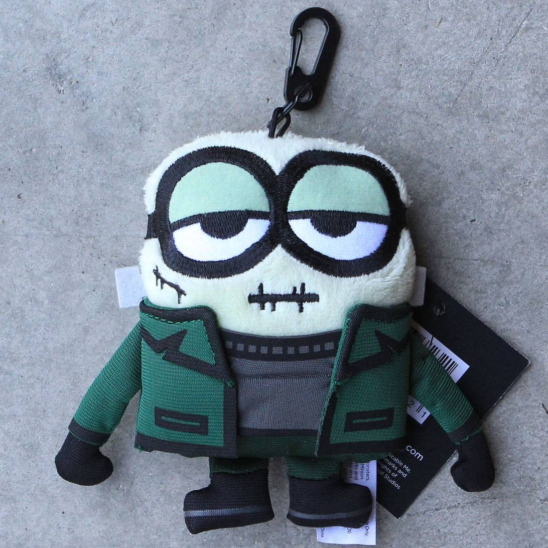BAIT x Minion Monsters FrankenBob 5 Inch Plush Backpack Clip (green)