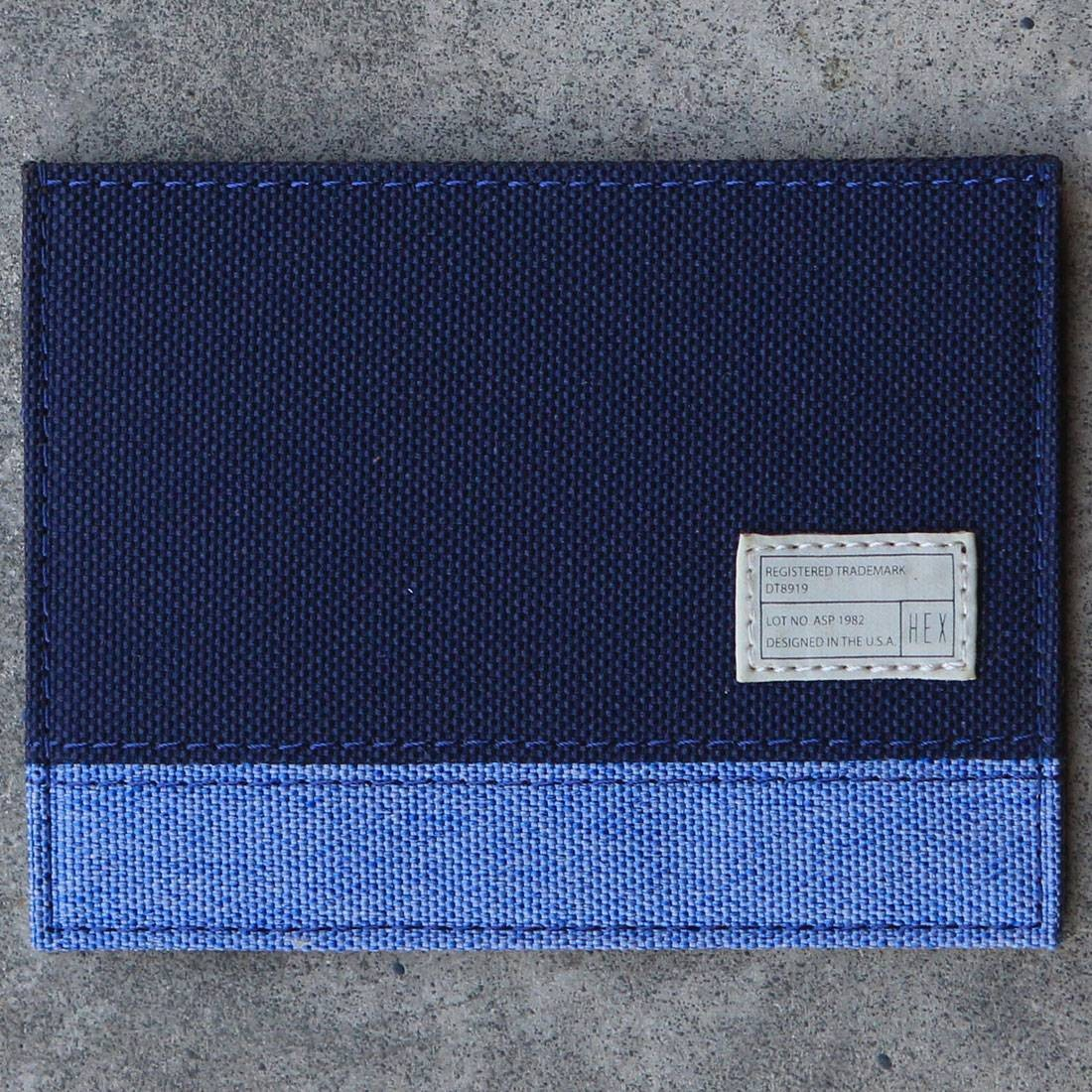 Hex Card Wallet (blue / navy)