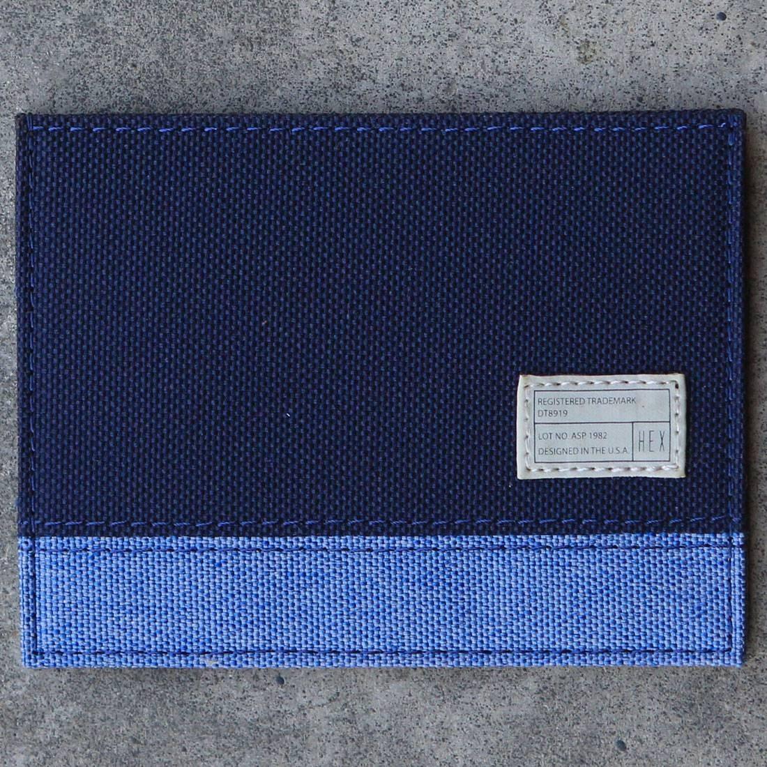 Hex Card Wallet (blue / navy)