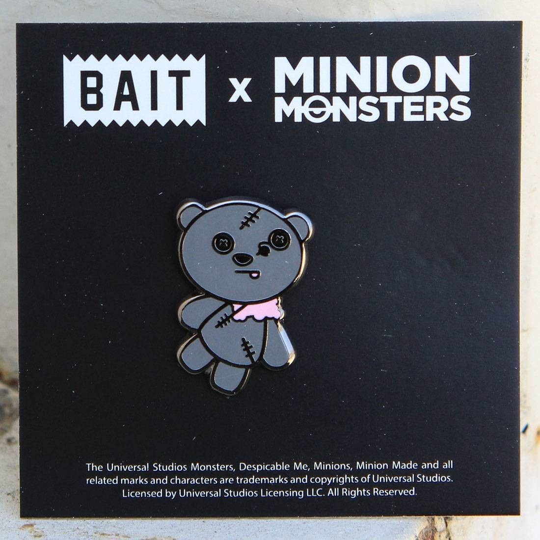 BAIT x Minion Monsters ZombieTim Bear Pin (gray)