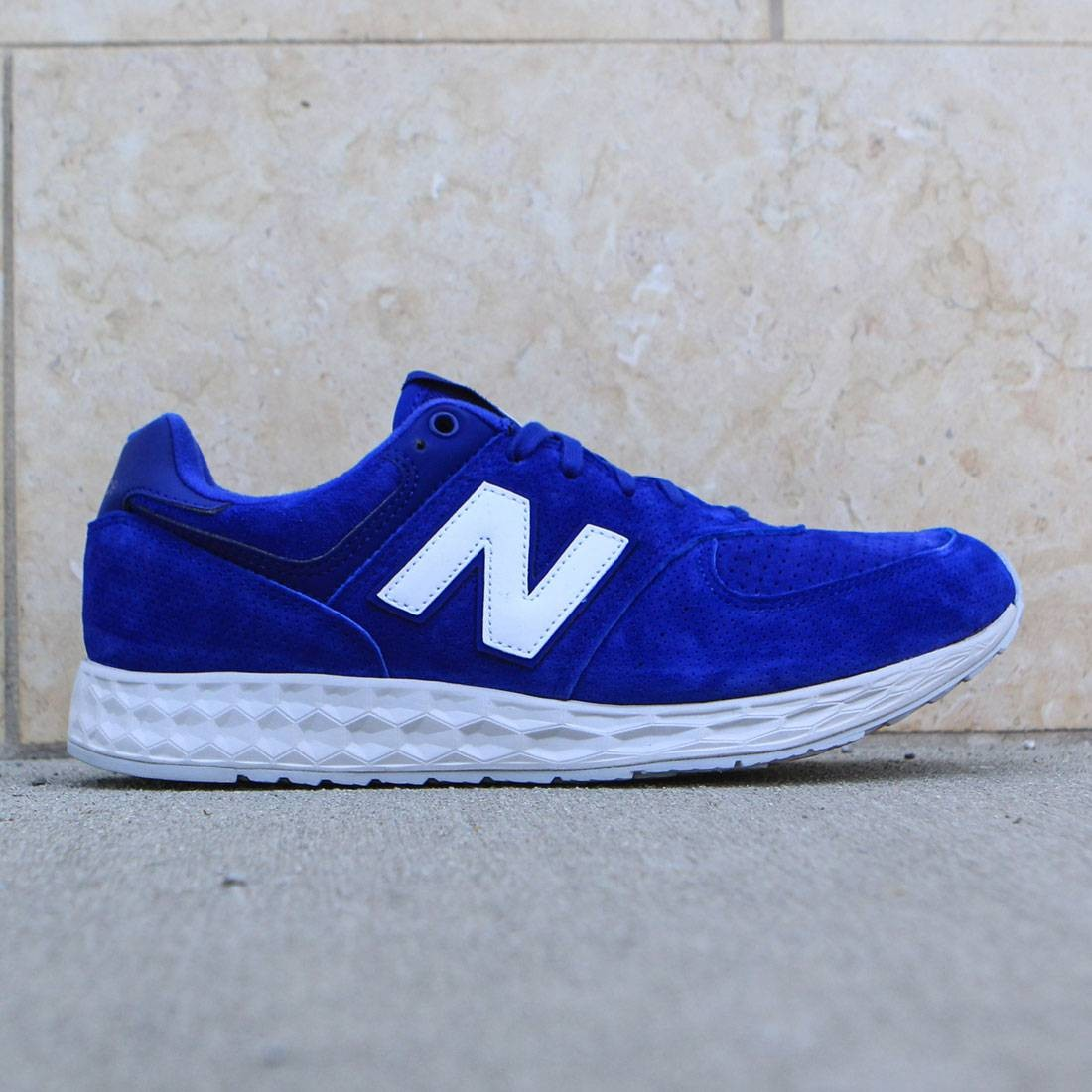 new balance 574 blue suede