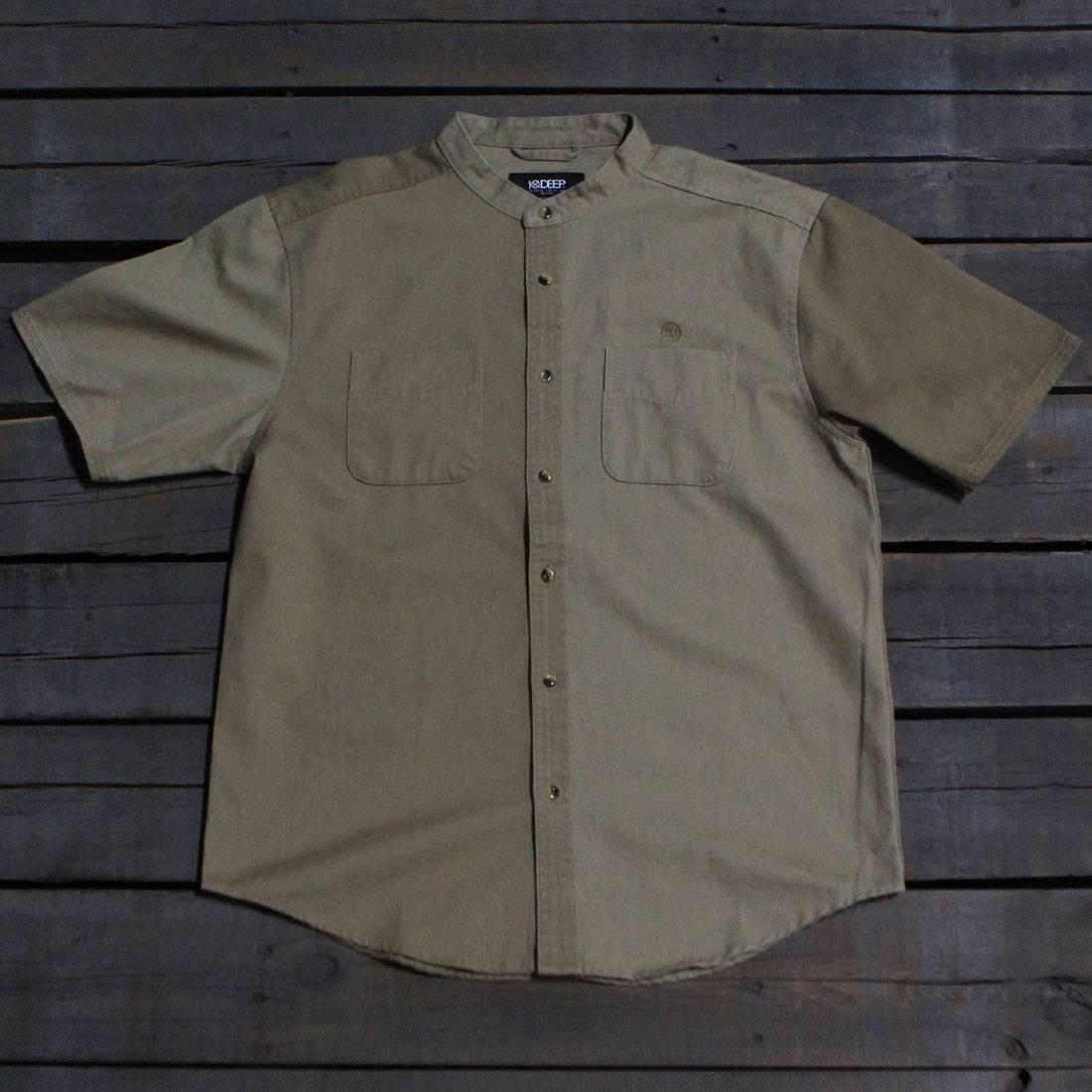10 Deep Men Ying Yang Split Shirt (khaki)