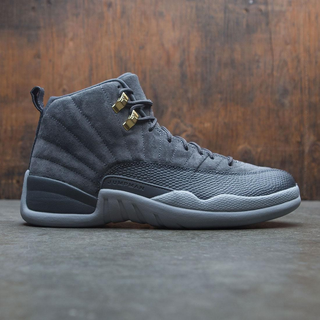 154d45bcc46bbf jordan men air jordan 12 retro dark grey dark grey wolf grey