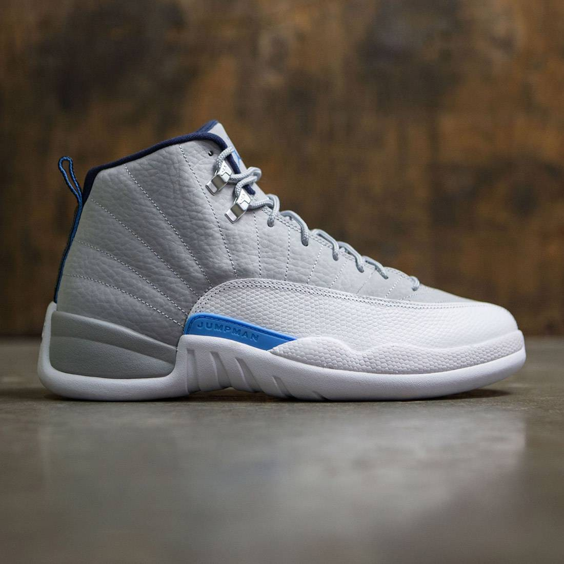 ba461bcf12e1b9 Jordan Men Air Jordan 12 Retro University Grey (grey   wolf grey    university blue-white)