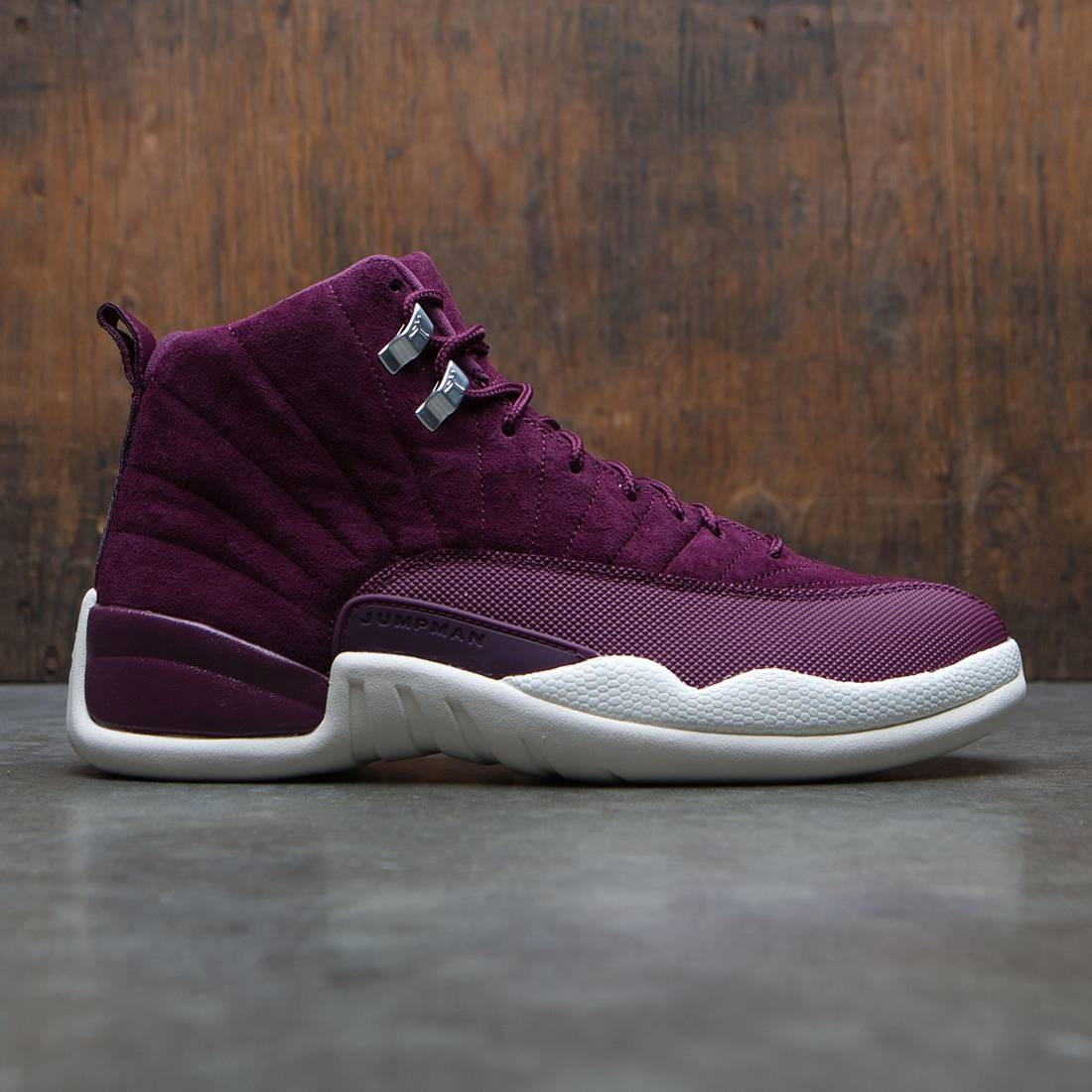 1fc9eaea65d2 jordan men air jordan 12 retro burgundy bordeaux sail metallic silver