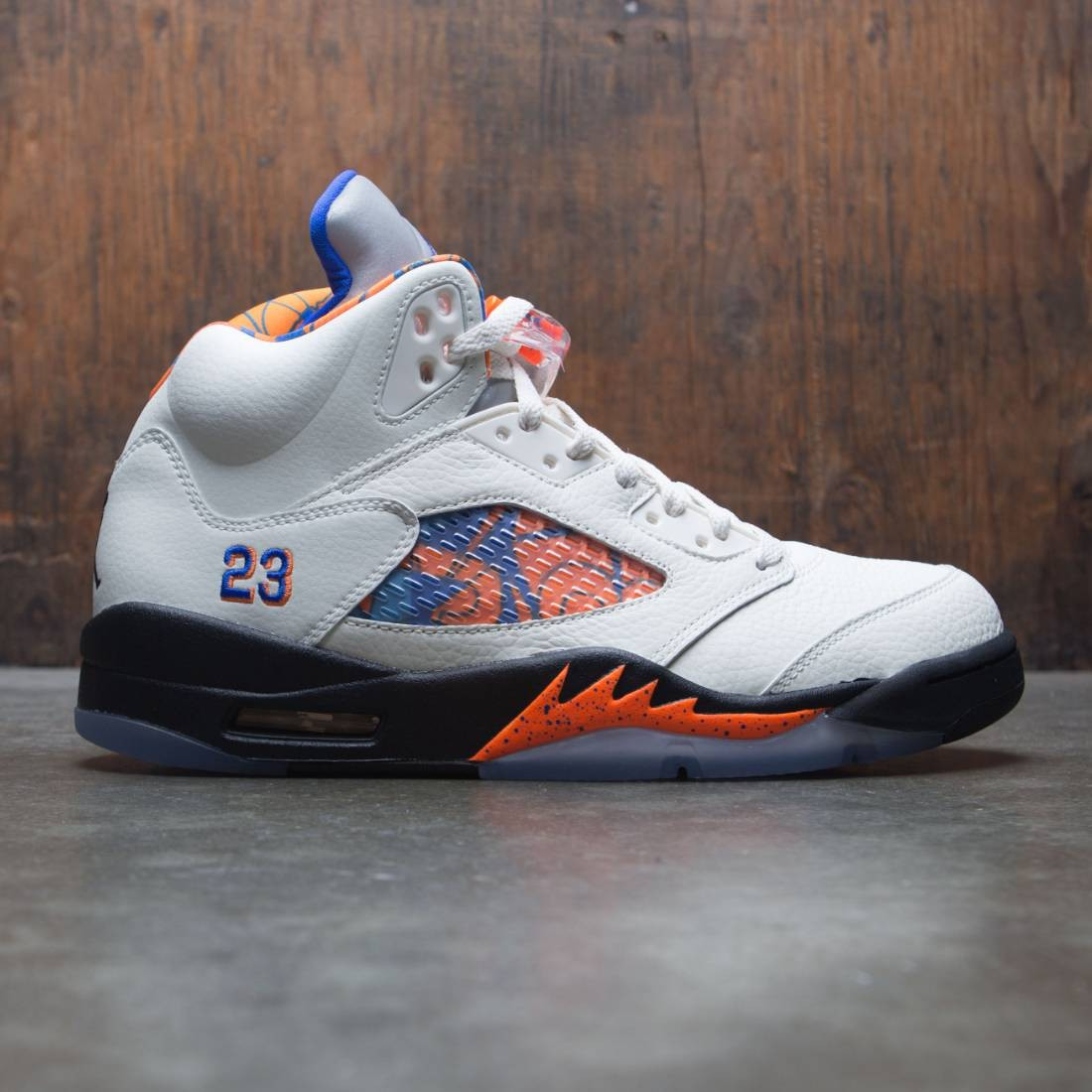 ed277c474c4951 jordan men air jordan 5 retro sail racer blue cone black