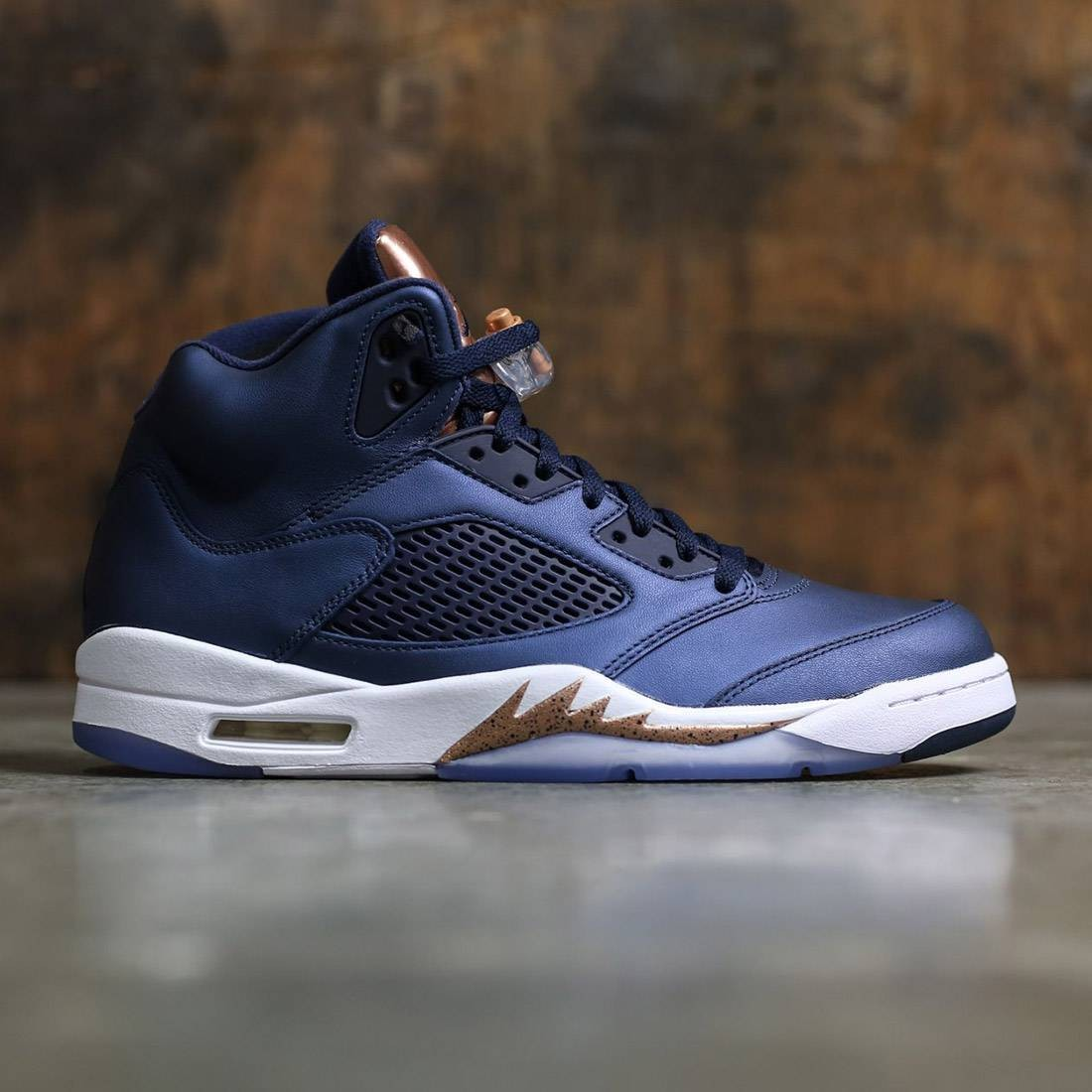 Air Jordan 5 Retro Men (navy / obsidian / white-mtlc red bronze)