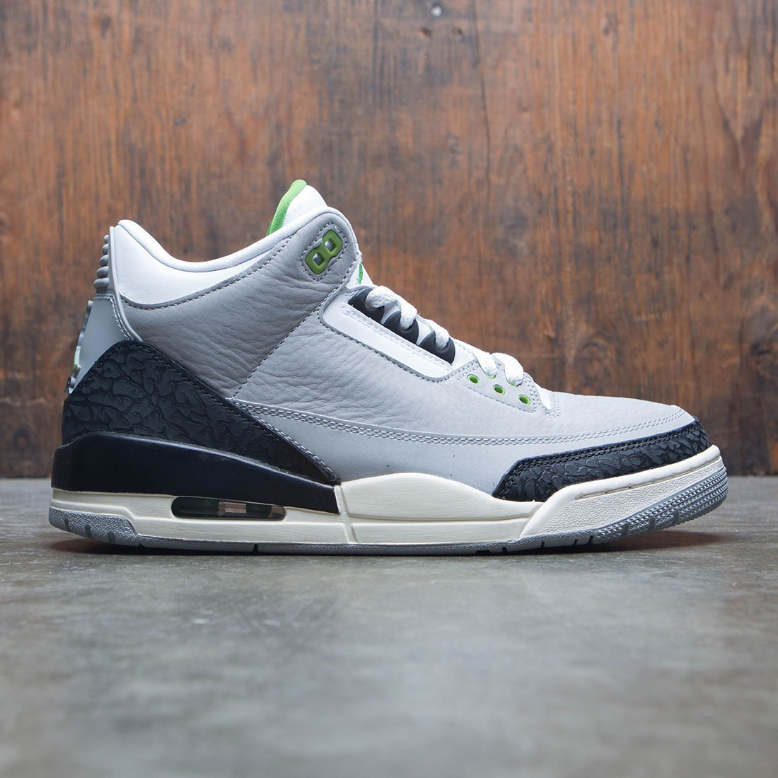 competitive price 57bd4 172cc jordan men air jordan 3 retro lt smoke grey chlorophyll black white