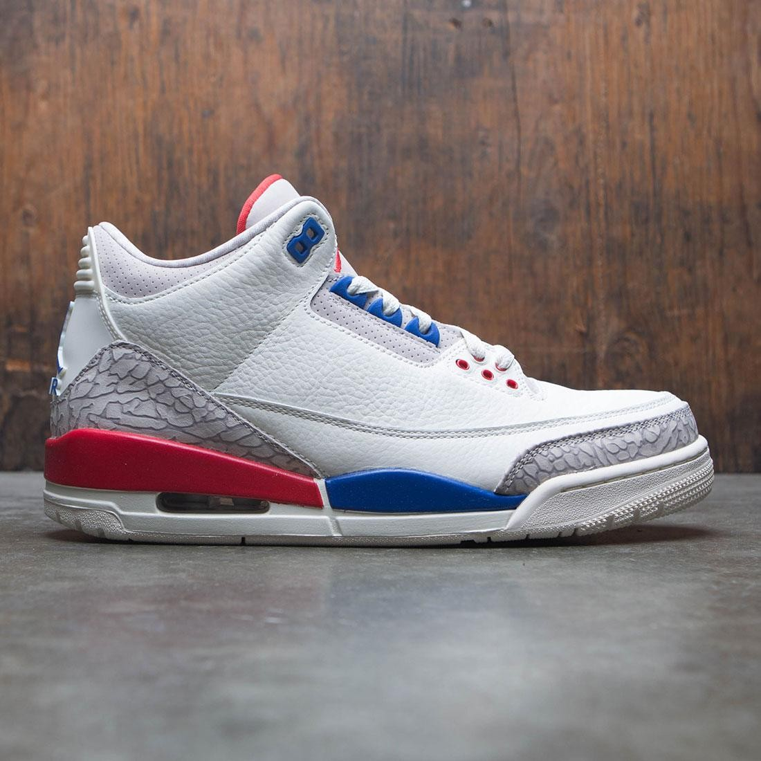 e3beaeac133aba jordan men air jordan 3 retro sail sport royal fire red