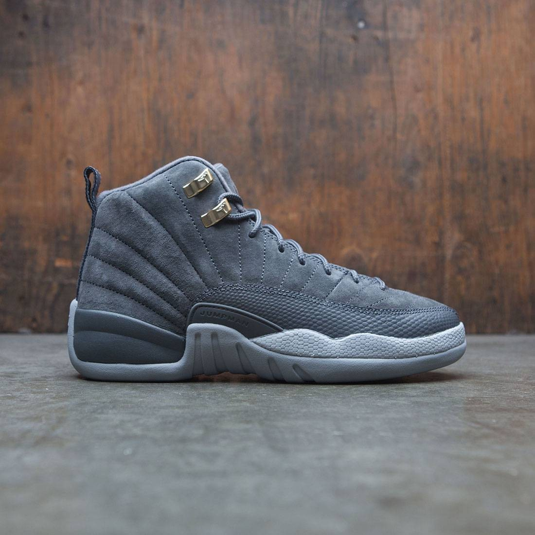 timeless design 7b85e 01aa0 Air Jordan 12 Retro (GS) Big Kids (dark grey / dark grey-wolf grey)