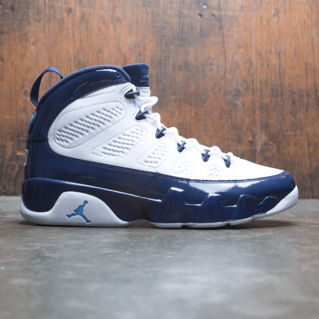 huge discount 211c4 ec681 jordan men air jordan 9 retro white university blue midnight navy
