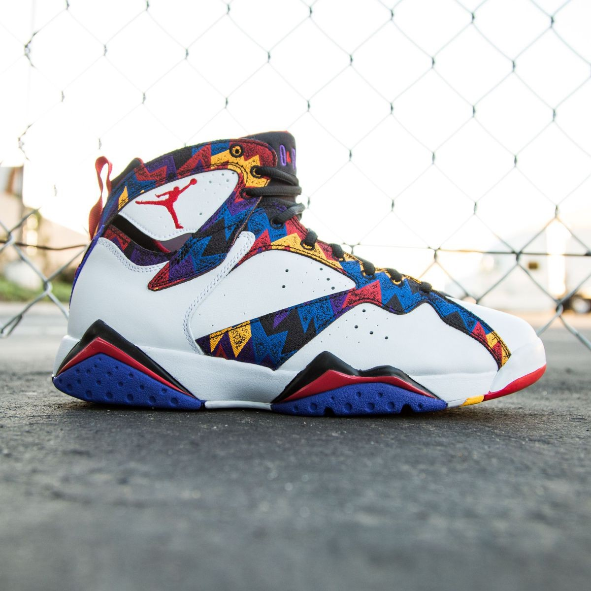 new concept e96c4 1325e Jordan Men Air Jordan 7 Retro white university red black bright concord