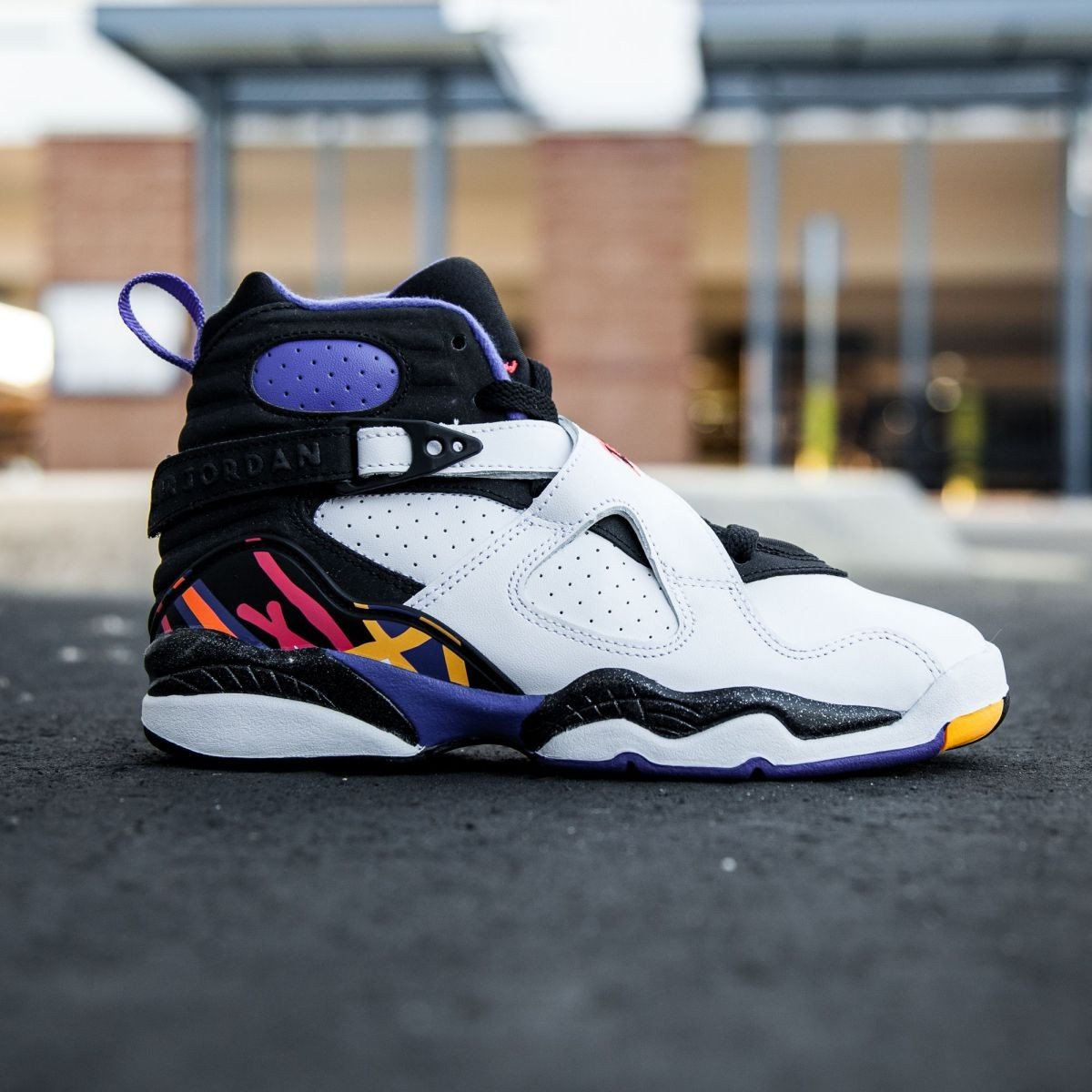 promo code 71cda a6952 Air Jordan 8 Retro BG - Three-Peat Big Kids (white / infrrd 23 / black /  bright concord)