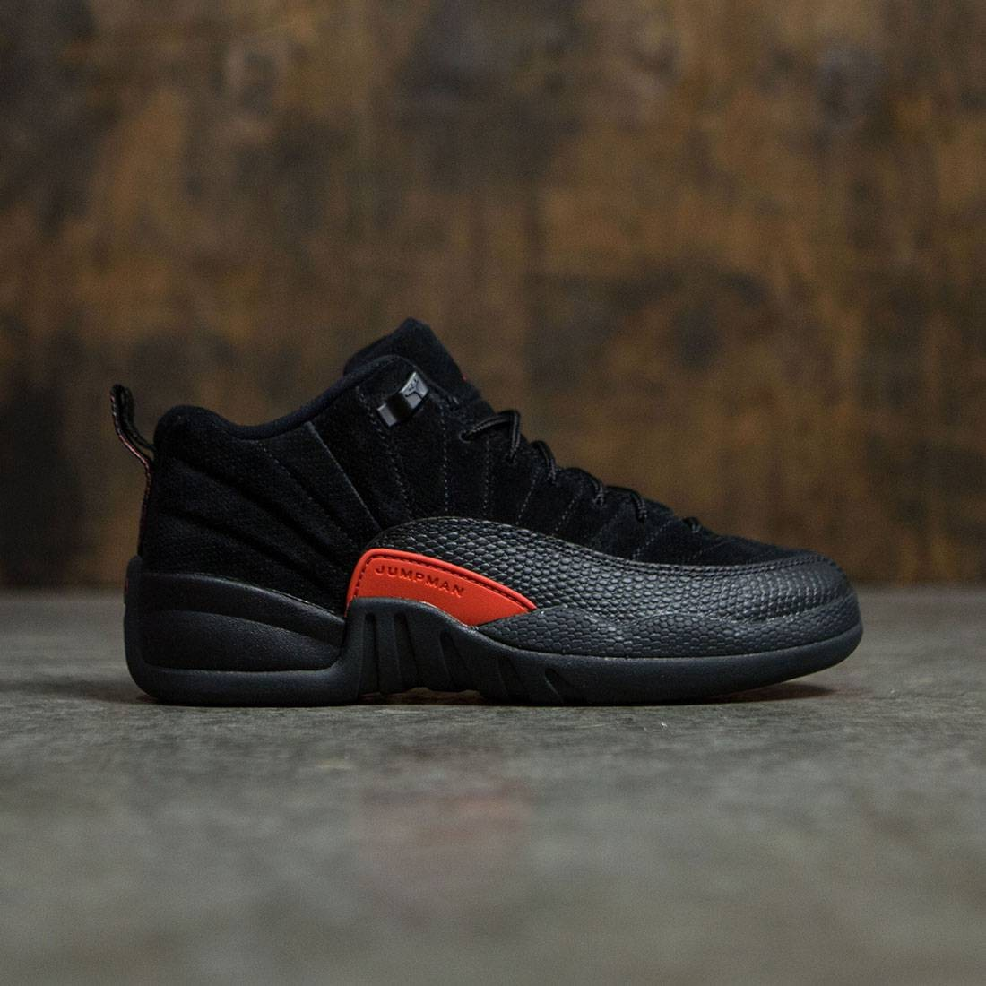 newest a34fb dd4ef AIR JORDAN 12 RETRO LOW (GS) Big Kids (black / max orange-anthracite)