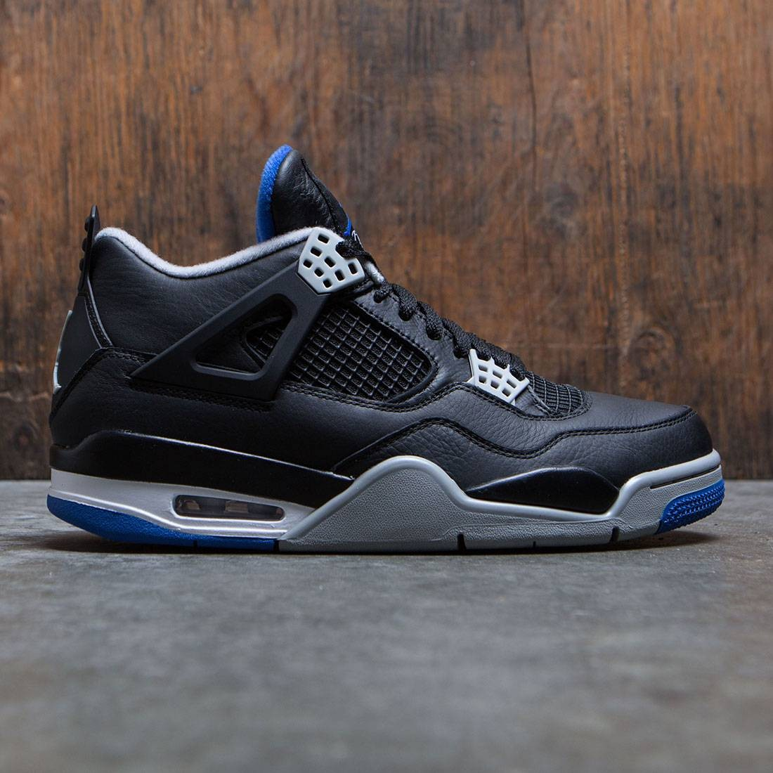 buy online b7782 e455c ... hot jordan men air jordan 4 retro black game royal matte silver white  3d096 68627