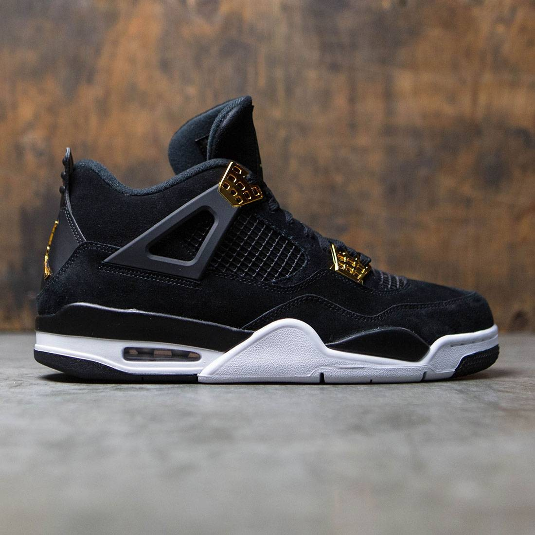 separation shoes 95d49 ea8b9 Jordan Men Air Jordan 4 Retro (black   metallic gold-white)
