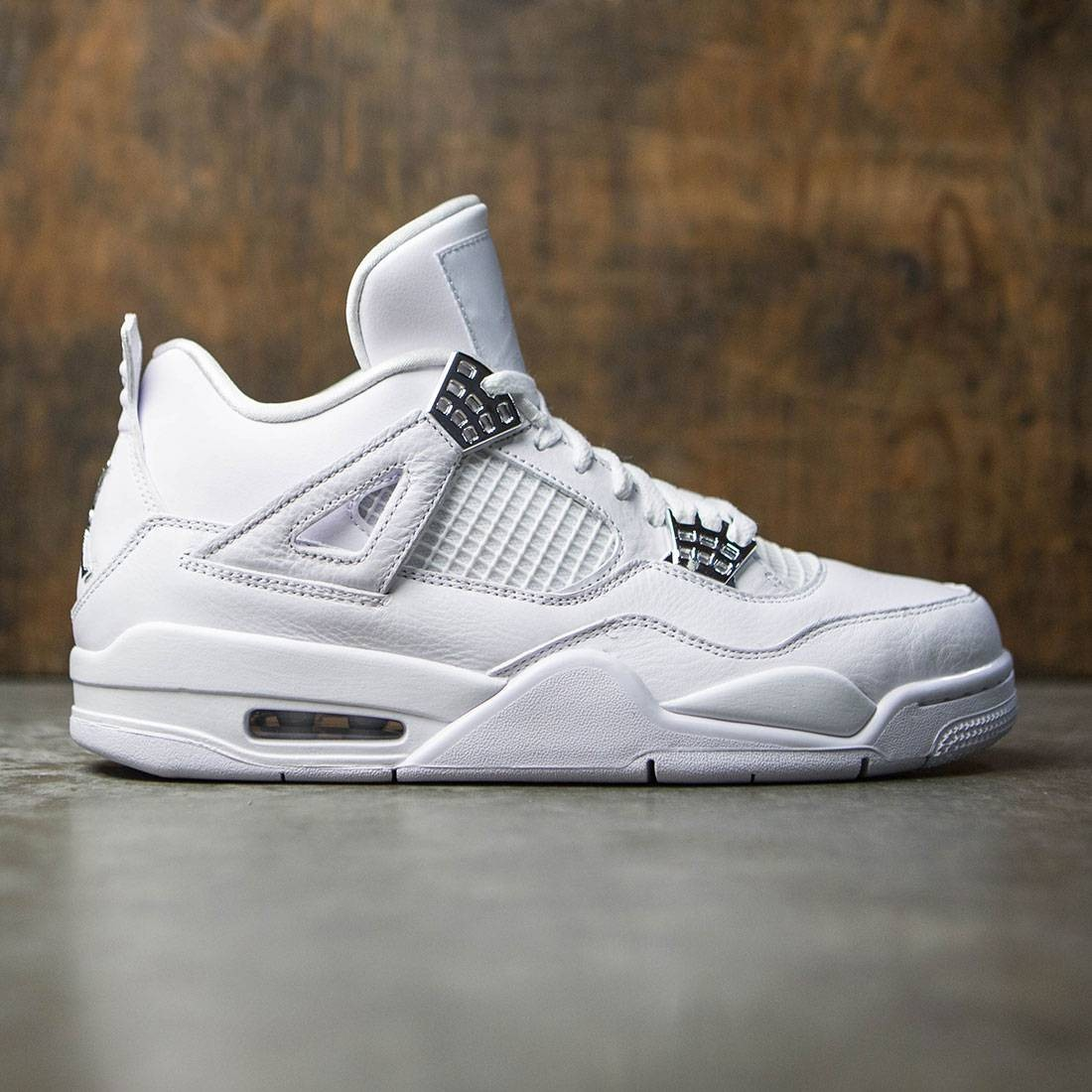 separation shoes 8d0a3 5fe75 jordan men air jordan 4 retro white metallic silver pure platinum
