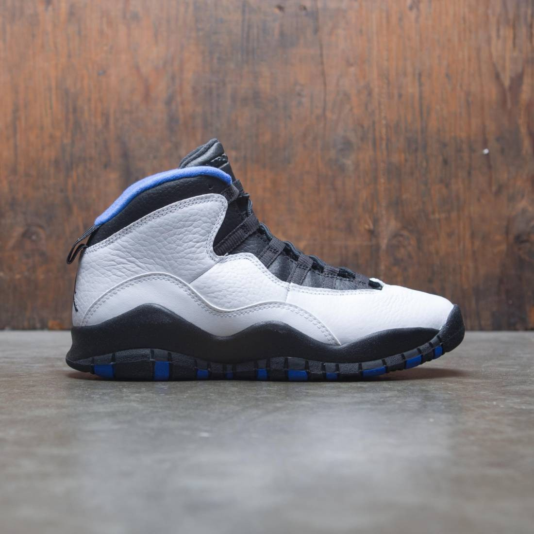 big sale b9792 47d88 jordan big kids air jordan retro 10 gs white black royal blue metallic  silver