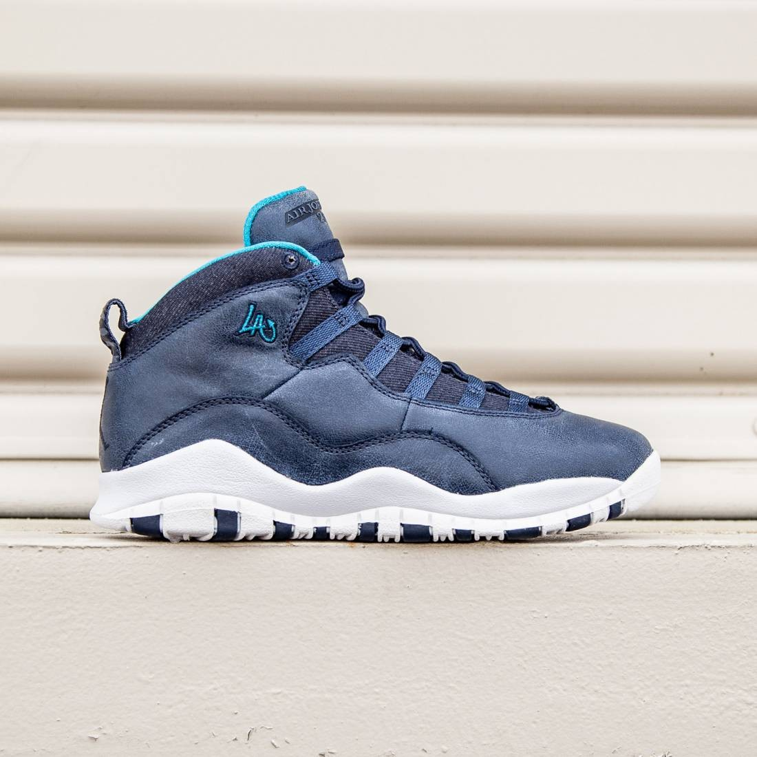 the latest e8e52 9c664 Jordan Big Kids Air Jordan Retro 10 City Pack LA (ocean fog / blue lagoon /  white / midnight navy)